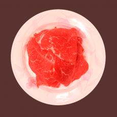쵸이스등급 소불고기  2.0kg 100g당 1.480원